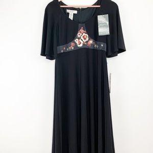 NWT Nine West black floral dress